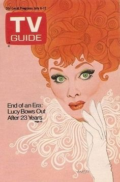 Hard to believe Lucy was still making current TV shows when I was a kid and I Love Lucy was more way more recent than todays reruns of The Cosby Show.  We love you, Lucy. 1974 TV Guide