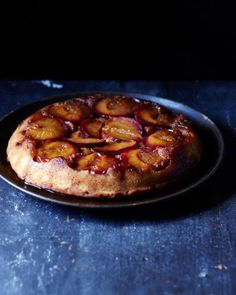 Rosemary Scented Plum Cake