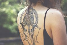 ganesha tattoo, I wouldn't be brave enough to get something this big, but it's beautiful.