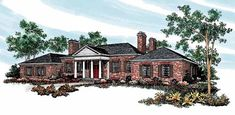 Colonial   House Plan 95143