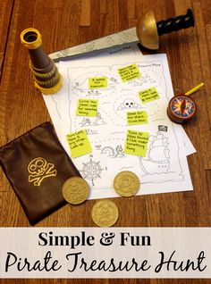 """Easy Pirate Treasure Hunt Activity For Kids by Confessions of a Semi-Domesticated Mama Brought to you by BlogHer and Disney's """"The Pirate Fairy,"""" an All-New Tinker Bell Movie on Blu-ray and Digital HD Now ~Erin"""