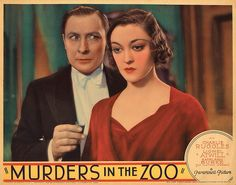 Lobby Card from the film Murders In The Zoo
