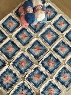 Crochet and Knitting Crochet Motifs, Crochet Blocks, Crochet Squares, Crochet Granny, Crochet Stitches, Crochet Baby, Free Crochet, Knit Crochet, Crochet Patterns