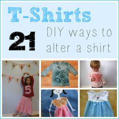 T-Shirts -- 21 Fun, DIY Ways to Alter a Shirt!