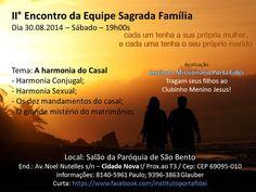 Convite II Encontro de Casais e Clubinho 30 / 08 / 2014
