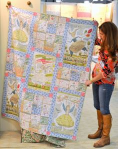 Doing my best to show off the Adventure Girls Quilt Project.