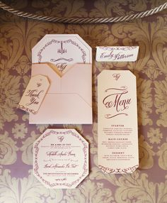 Close-up from latest Wedding Album magazine: various wedding stationery by mintstationery.com. Shot at Casa Labia, by Gareth Van Nelson/ HSMimages.co.za.