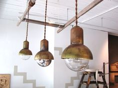 Bell Jar Pendant Lights. by BK for Nightwood.
