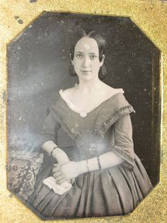 1840s Daguerreotype Beautiful Young Lady Attractive Grand Dress Cameo Early | eBay