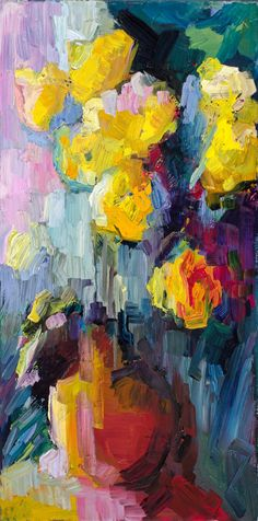 Lena Levin a color study of yellow roses