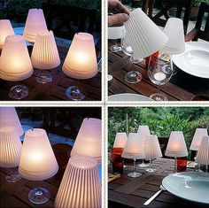 How To Make Wine Glass Candle Lamps...http://homestead-and-survival.com/how-to-make-wine-glass-candle-lamps/