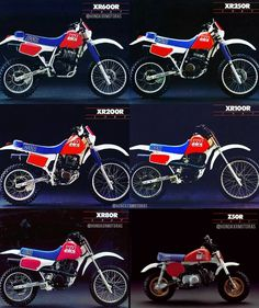 Motorcross Bike, Motorcycle Dirt Bike, Old School Motorcycles, Honda Motorcycles, Honda Tornado 250, Honda Xr, Honda Dirt Bike, Cool Dirt Bikes, Honda Accord Lx