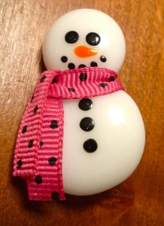 Free Shipping Fused Glass Snowman Pin by GlassBySarahAllen on Etsy, $7.00