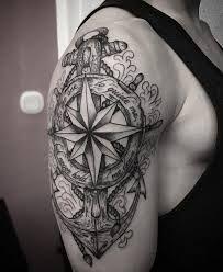 Resultado de imagen de compass anchor tattoo