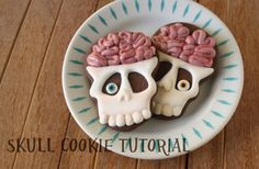 Brainy Skull Cookies Tutorial | Klickitat Street
