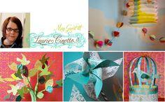 Gorgeous paper craft ideas, love the pom pom garland. Includes tutorial