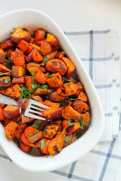 Roasted Carrots and Sweet Potatoes