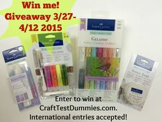 Come on over to Crash Test Dummies for your chance to win this Faber-Castell prize pack http://www.crafttestdummies.com/craft-news/giveaways-craft-news/friday-giveaway-from-faber-castell/