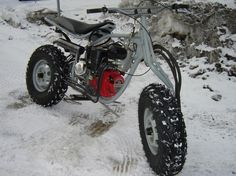 Hydrostatic Drive Motorcycle with Two Wheel Drive