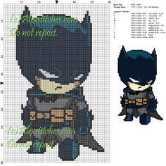 Batman cross stitch pattern 60x90 12 colors