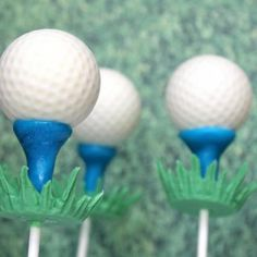 Golf Ball Cake Pops {Edible Craft}