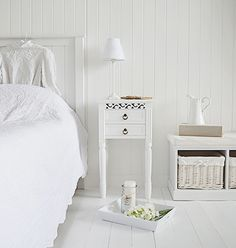 new england white bedside table with drawers from the white lighthouse white bedroom furniture