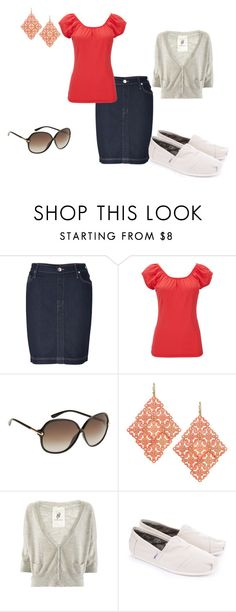 """""""Coral love"""" by style1437 ❤ liked on Polyvore featuring True Religion, Wallis, Tom Ford, Friendly Hunting and TOMS"""