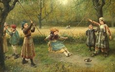 The Swing, George Henry Boughton (1833 – 1905)