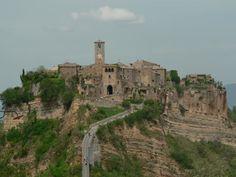 The dying town of Civita di Bagnoregio, Italy