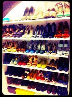 DIY shoe storage - scarpiera fai da te vittoriossecret.blogspot.it