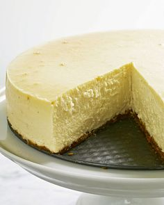 New York-Style Cheesecake  7 lbs of cream cheese. MAKE SURE it is at room temp or you will not be able to use even your KitchenAide. Everyone loved it...it lasted two days between two families.