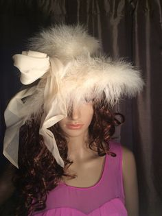 Vintage Authenic White Full Feather Derby by Stylishiddentreasure