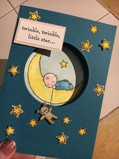 Moon Baby - #3 cards #1 stamp set...   #1 Crafty Kelly Stampin' Up! Demonstrator   UK   Crafty Kelly