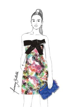 #MBFW Kate Spade Fall/Winter 2014 | Fashion Illustration repost by Mairanny Batista