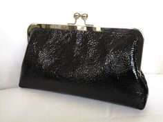 black patent leather evening  special ocassion  holiday prom  clutch christmas clutch new years eve clutych by BBsCustomClutches on Etsy