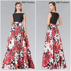 Ready for Spring? This red floral print dress by Elizabeth K is GORGEOUS and reminds us that Spring isn't far away ❤️️ #floralprintdress #prom #dress #promdress #prom2k17 #promgown #newarrival #freeshipping #abcfashion