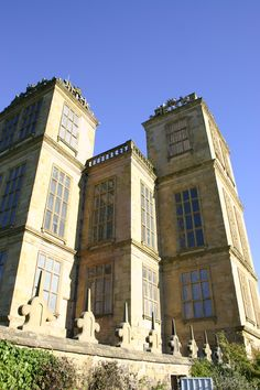 Hardwick Hall. Two turrets and a corner