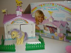 My Little Pony Stable with Lemon Drop Pony- still have this in the original box! Favorite toy ever!