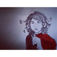 akasillyboy/2016/10/26 11:32:48/Cornerstone #inktober #ink #alexturner #arcticmonkeys #desenho #dibujo #ilustración #arte #art #ilustração #illustration #music #rocknroll