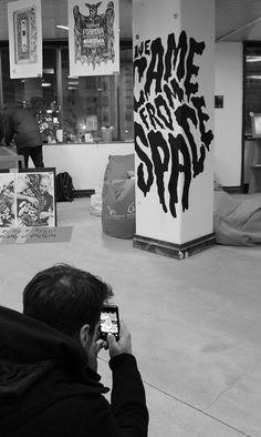 UP Street - AXA Urban Store 2014 on Behance Graphic Design Studio, Cool Typography, Office Interiors, Illustrators, Behance, Wall Art, Cool Stuff, Street, Projects