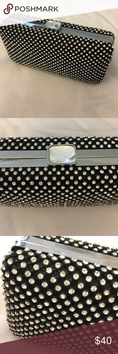 Rhinestone clutch Gorgeous rhinestone clutch.  Purchased at Nordstroms.  Used once.  Comes with detachable chain. Nordstrom Bags Clutches & Wristlets