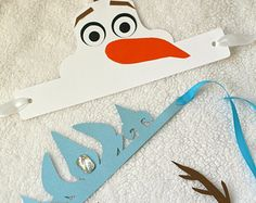 """Frozen Inspired Birthday Crowns - Set of 6 - 3 Designs To Choose From - Queen """"Elsa"""", Reindeer """"Sven"""" and Snowman """"Olaf"""""""