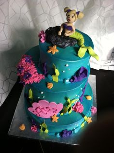 Mermaid Birthday Cake!  All edible!