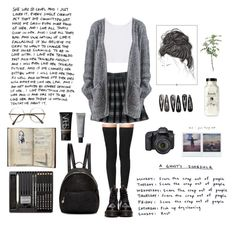 """""""School 345"""" by cooltured on Polyvore featuring moda, Tamara Mellon, JUSTONE, Dr. Martens, ZeroUV, STELLA McCARTNEY, Eos, Clips, NARS Cosmetics y vintage"""