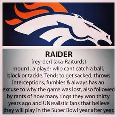 Living in the Bay Area, I have tiny little bit of sympathy.....NOT!!! Go Denver!❤️