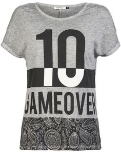 designed by me PRINTED T-SHIRT, Light Grey Melange