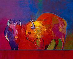 Cimmaron Buffaloes John Nieto Acrylic 48″ x 60″