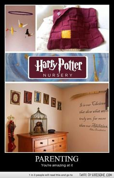 Harry Potter Nursery. It will be this or Star Wars. Depending on how cool my husband is