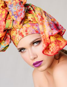 Garden Party Turban Dreads Wrap Head Wrap Alopecia by TurbanDiva Turban, Dread Wraps, Tribal Fabric, African Head Wraps, Pink Purple, Orange Pink, Boho Gypsy, Headgear, Dreads