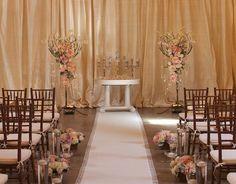 Wedding Ceremony in Vintage Blush - Flora Nova Design, Seattle